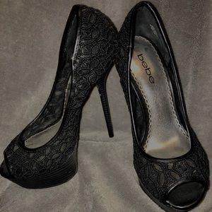 Size 7 BEBE high heels